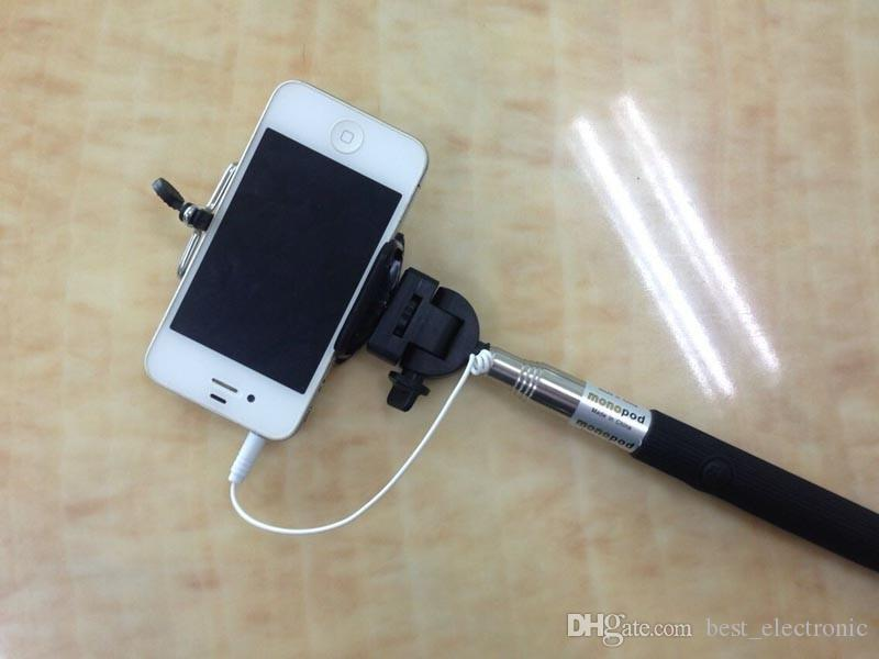 Monopod Extendable Wired Self Timer Handheld With Cable Z07-5 plus With Groove Cable Take Pole Monopod selfie stick For phone 6 Samsung s5