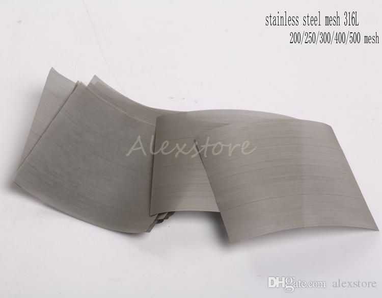 Écran de fumée net d'huile de fil d'acier inoxydable 316L de fil de nickel de Nickle 200 250 300 400 500 mesh 50 * 50MM / sac pour DIY RDA