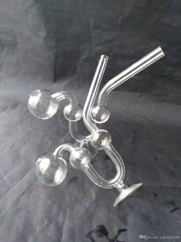 Base en forma de serpiente con olla de serpiente, Bongs de cristal al por mayor, tubos de agua de cristal de la hornilla de aceite, accesorios de la pipa de humo