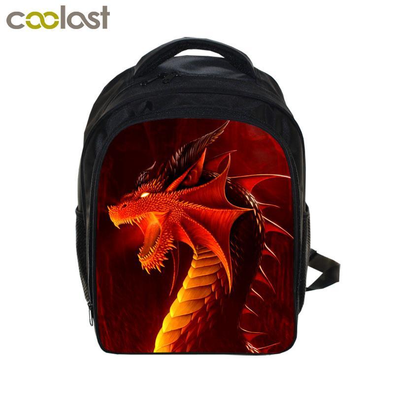 afcaca5ac4 Cool Dinosaur Backpack Magic Dragon Students School Bags Boys Girls  Kindergarten Backpacks Children Bag Kids Best Gift Backpack Boys Backpacks  Laptop ...