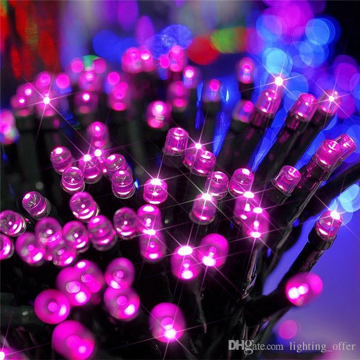 Venta caliente Al Aire Libre Led Luces de Navidad 100LED 12 M Color Led Solar String Lead Fairy Lights para Holiday Garden Christmas Wed Wed decoración del hogar