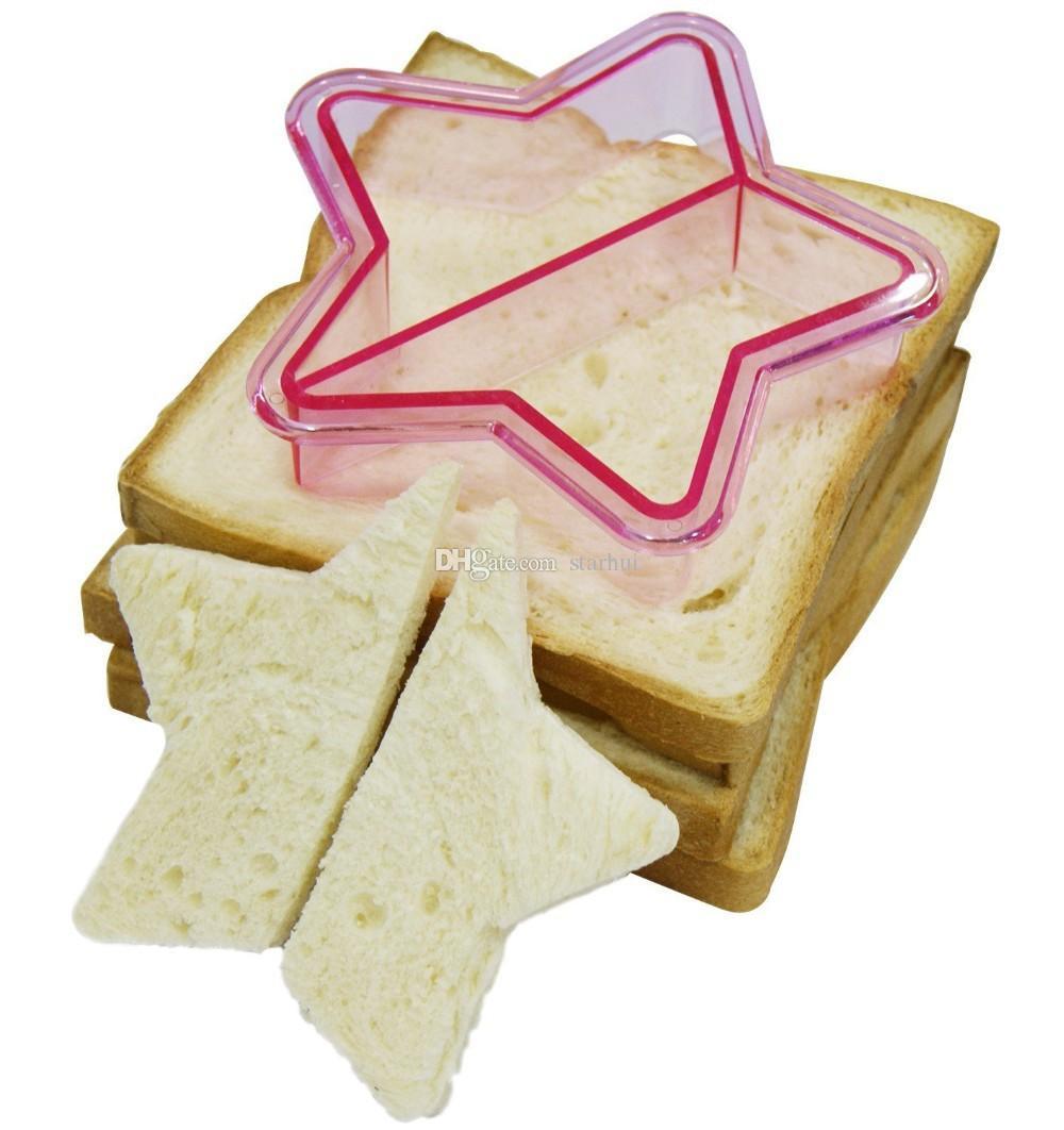 Cortadores de sándwich Cortador de corteza de pan tostado Cortadores de galleta Prensas de pan para hornear Set Adultos Kids Lunch Maker DIY Forma linda WX-C65