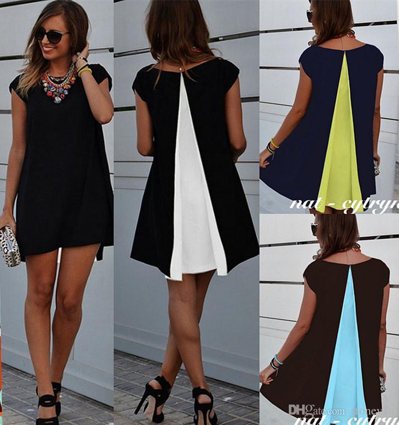 Leisure maxi joint chiffon dress