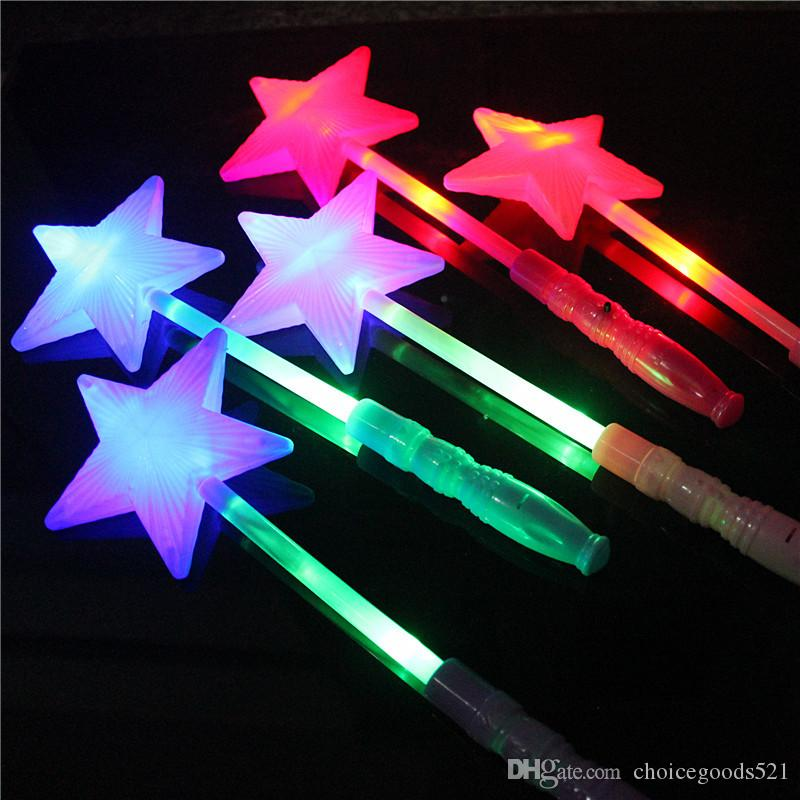 Bright Children Led Magic Animal Butterfly Wand Sticks Flashing Light-up Glow Spring Sticks Party Concert Cheering Props Christmas High Quality Materials Costumes & Accessories
