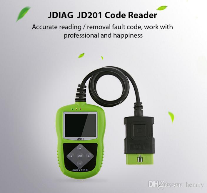 Original JDiag JD201 Code Reader OBD2 OBDII EOBD CAN Fault Code Lamp Definition PCM I/M Views Freeze Frame Data