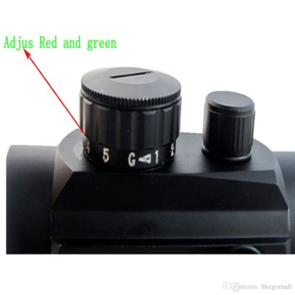 Neueste Outdoor Rot / Grün Dot Holographische Taktische Laser-anblick-bereich Rifle Picatinny Schiene Montieren VE050 HEIßER