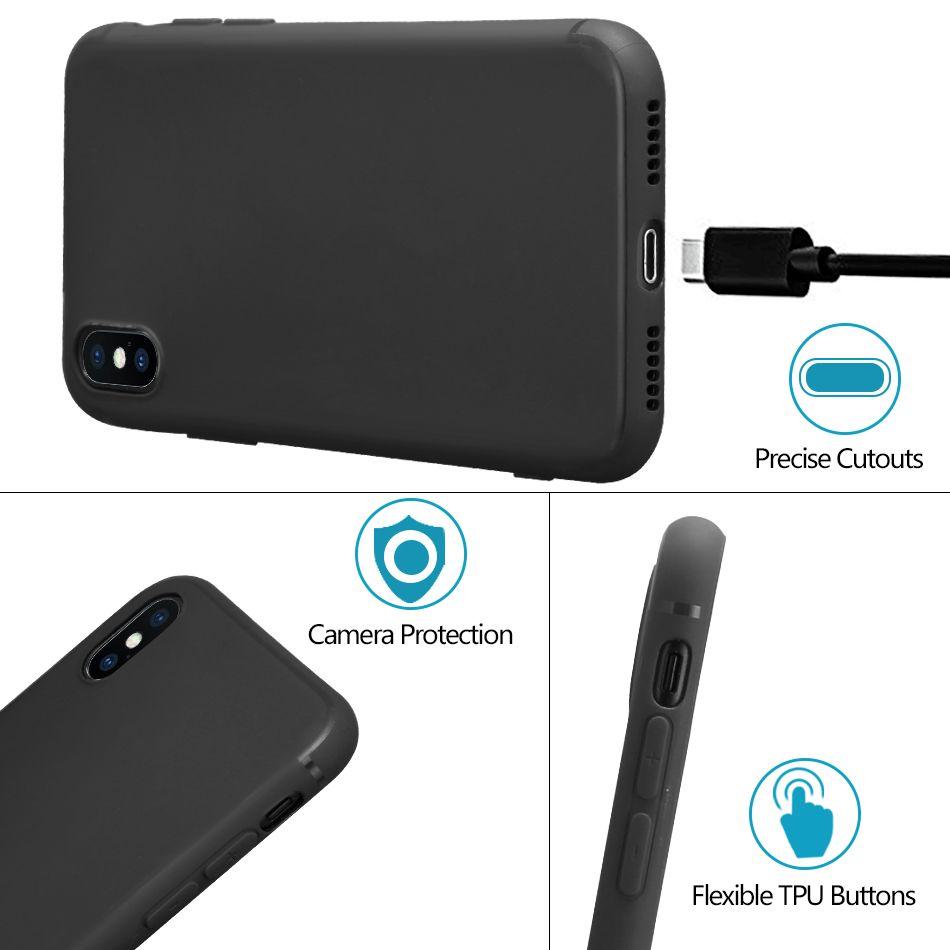 Casos de telefone celular soft tpu case para iphone x protetor de volta casos capa untra thin shell à prova de choque para iphone 8 7 plus 6 6 s além de