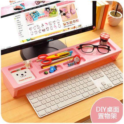 Wholesale  Creative Office Desk Sets Stationery Desk Accessories Desk  Organizer Box Plastic Classified Keyboard Storage Box Office Desk Set Desk  Set Desk ...