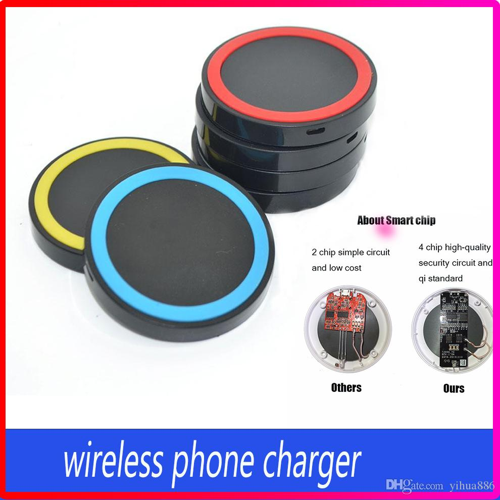 High Quality Qi Wireless Power Pad Charger For Iphone Samsung Galaxy Simple Circuit S3 S4nexus With Reail Box Pads