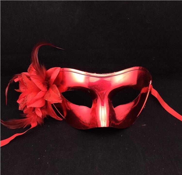 Women Plating Venetian Carnival Masks Halloween Party Side Flower Half Face Masks Birtyday Graduation Bar Masquerade Masks