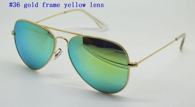 High Quality Mens Womens Designer Sunglasses Pilot Sun Glasses Gold Frame Colorful Flash Pink Mirror Glass Lenses Better Brown Cases
