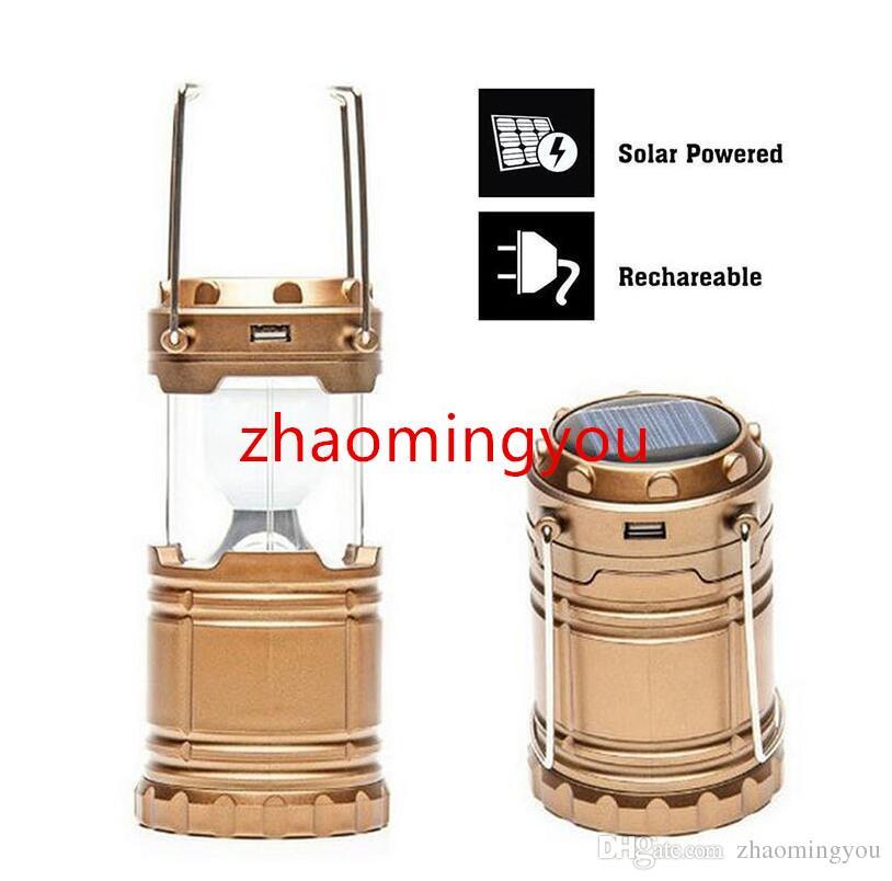 Portable léger rechargeable solaire de lanterne de camping ultra lumineux de LED pour la récréation extérieure avec la banque de puissance d'USB pour charger des téléphones