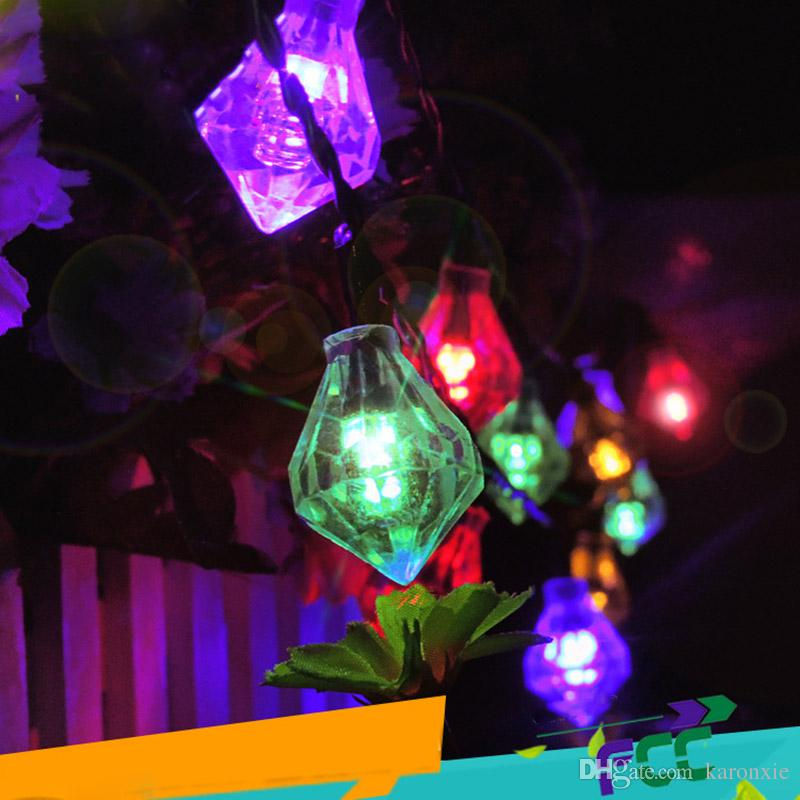 lighting strings. Diamond Shape Solar String Light Waterproof Patio Decorative Lighting Outdoor Christmas Tree Decorations Lights White Multicolor Led Strings W