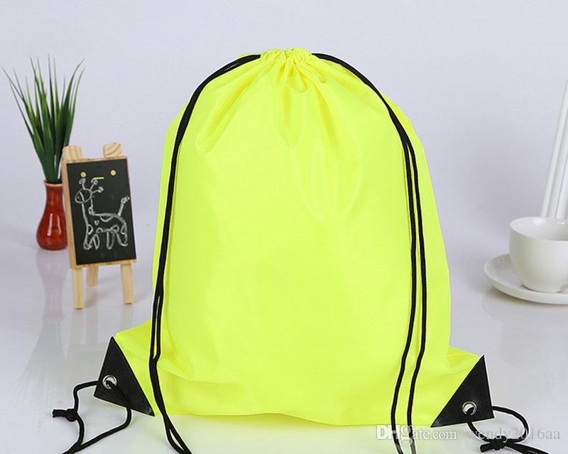 Новый Drawstring 210polyest ткани Сумки водонепроницаемый рюкзак складные сумки Маркетинг Продвижение сумка на ремне сумки для покупок