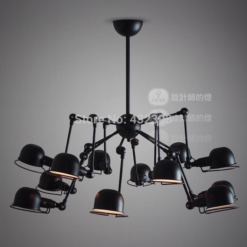 Vintage American Style 12 Lights Mechanical Arm Spider Chandeliers ...