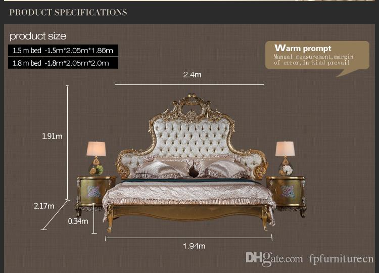 Italian luxury bed - Antique royalty bedroom furniture - solid wood carved furniture with gold leaf gilding