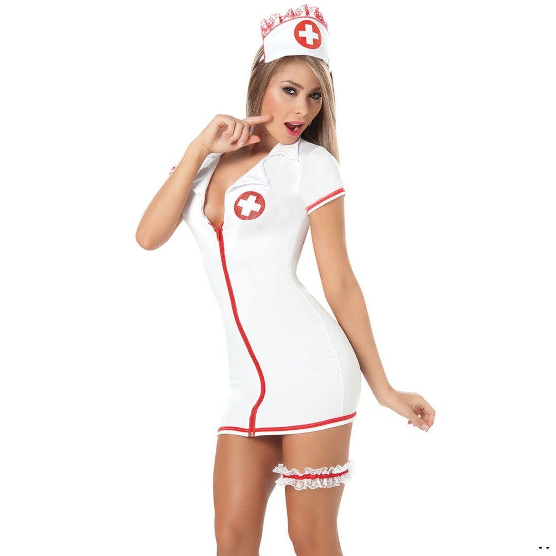 Halloween 2017 Sexy Krankenschwester Kostüm Set Fantasien sexy erotische Cosplay Kostüm Krankenschwester Uniform Versuchung V-ausschnitt Kleid bucaneras mujer