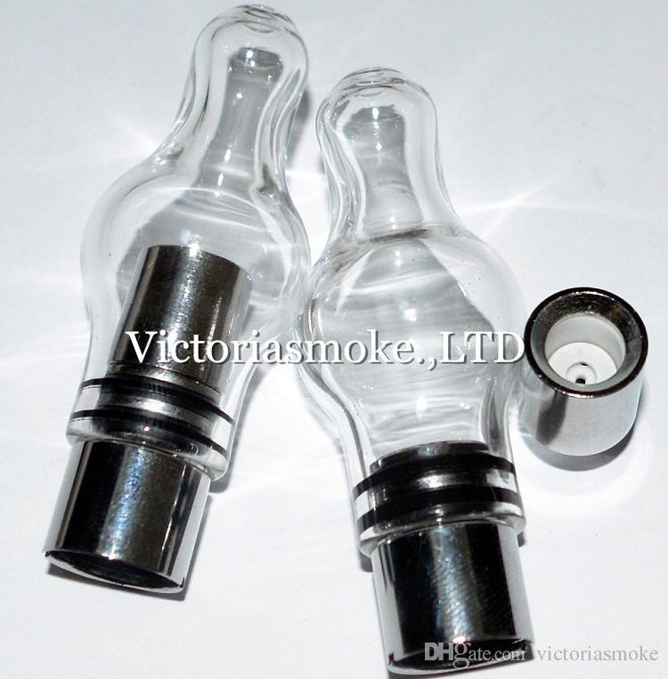 New Arrival Wax Vaporizer Glass Globe Atomizer Donut Coils for EVOD 510 thread battery wax Vaporizer Donut Coil Head ecigs Wax Vaprozier