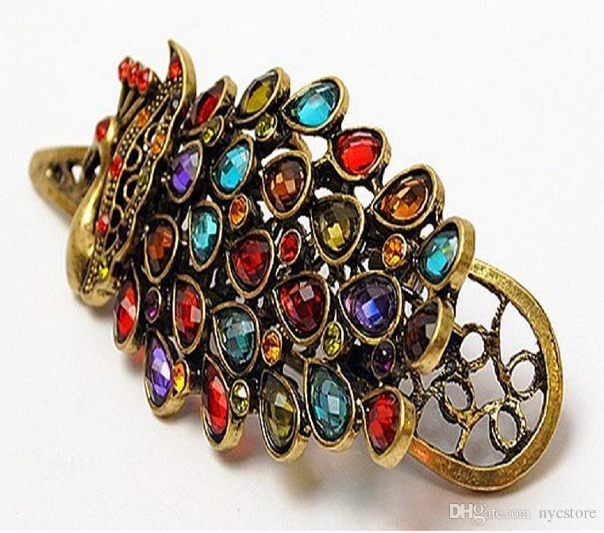 women crystal hairpins fashion peacock hair clips women hair jewelry