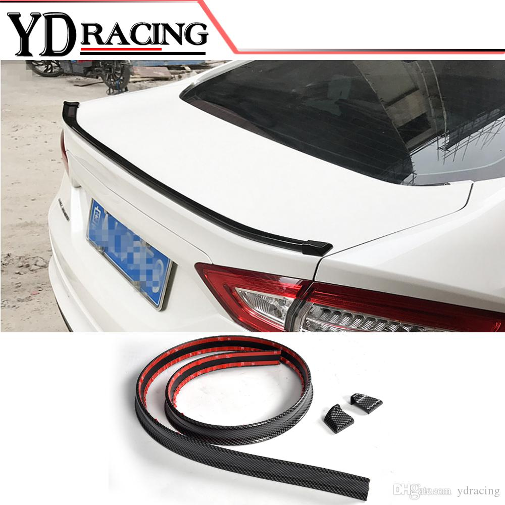 1 5m Carbon Look Universal Soft Car Spoiler Wing Exterior Rear Spoiler Kit Fits For Audi A3 A4 A5 A6 Fit Any Sedan Cars Any Yeas