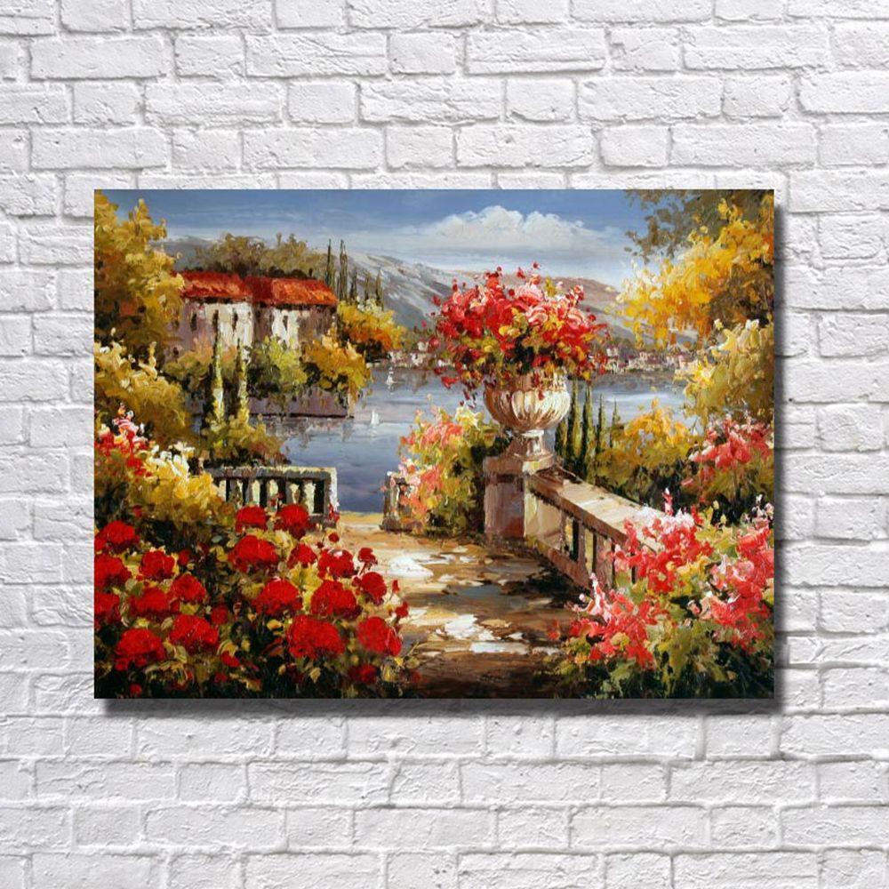 Compre Decoración Del Hogar Moderno Paisaje Del Mar Wall Pictures ...