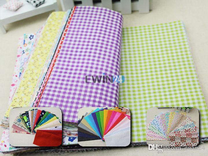 24*20 см хлопчатобумажная ткань дизайн цветок Serier лоскутное ткань жира ремесло Quater расслоение шитье для ткани 50 шт./лот