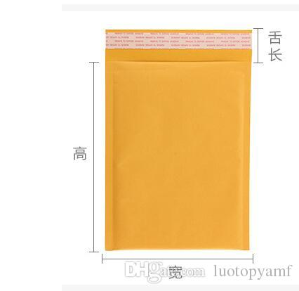 150x210mm Kraft Bubble Mailer Mail Envelope bag Trabsport packing for Cell phones cases cables Power bank Battery