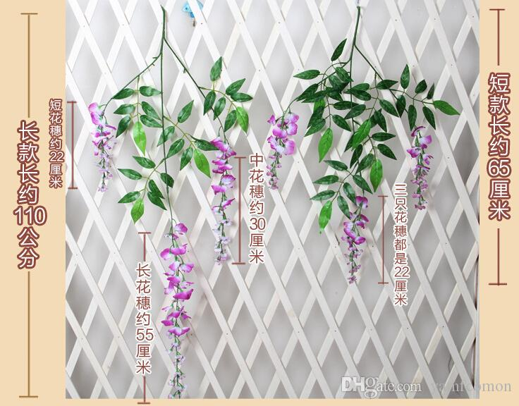 Wisteria Wedding Decor 110cm Artificial Decorative Flowers Garlands for Party