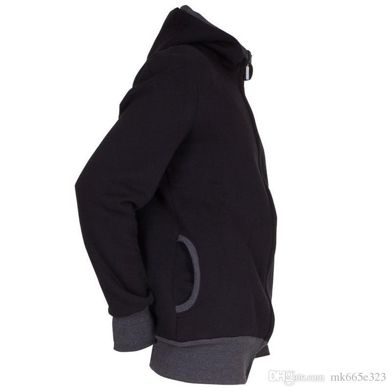 Papa Herbst Winter Kleidung Baby Carrier Känguru Baumwolle Oberbekleidung Hoodies Männer Mantel Hoodie Wearing Coat Plus Size Jacke