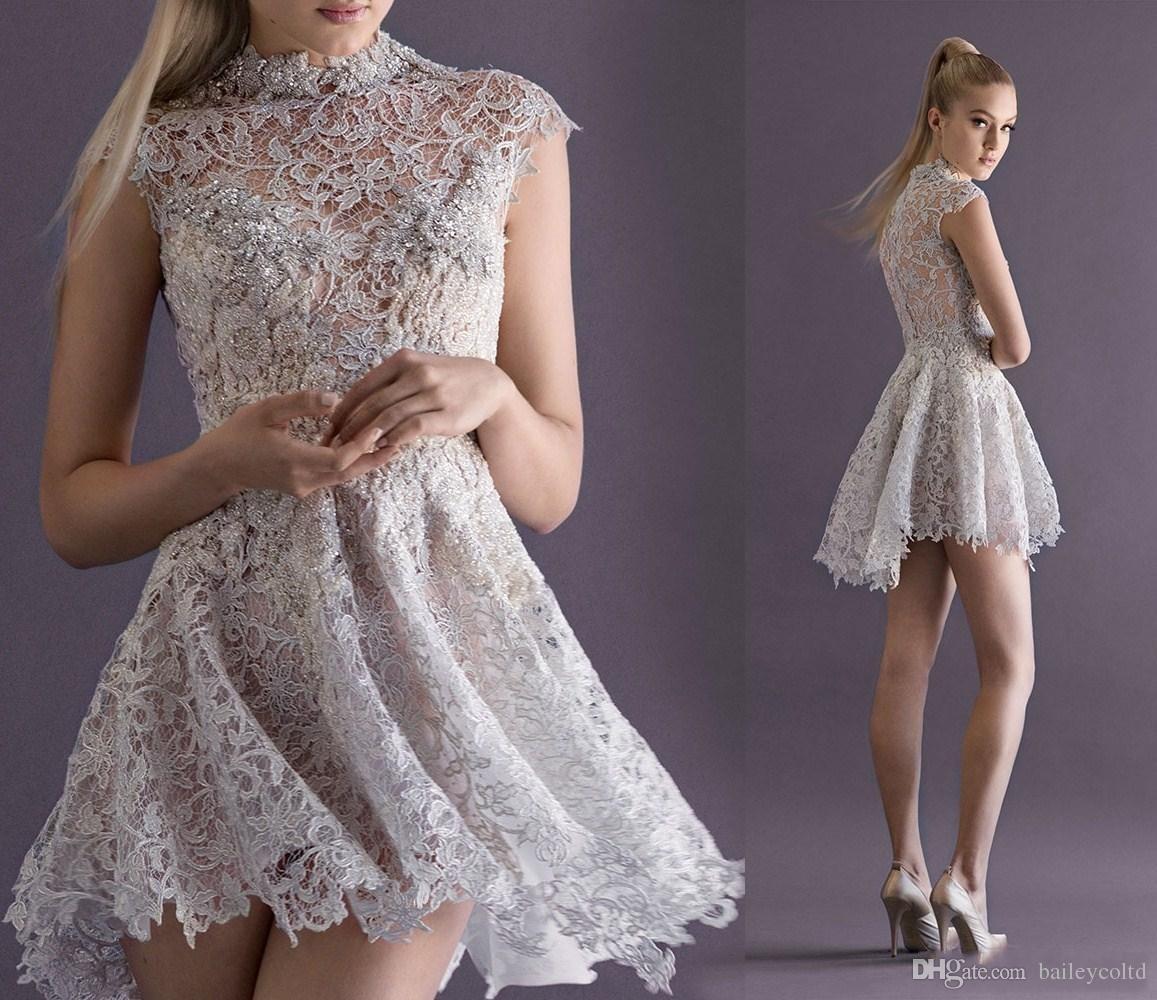 Compre 2016 Vestidos De Cóctel Franceses Cortos Atractivos Con El ...