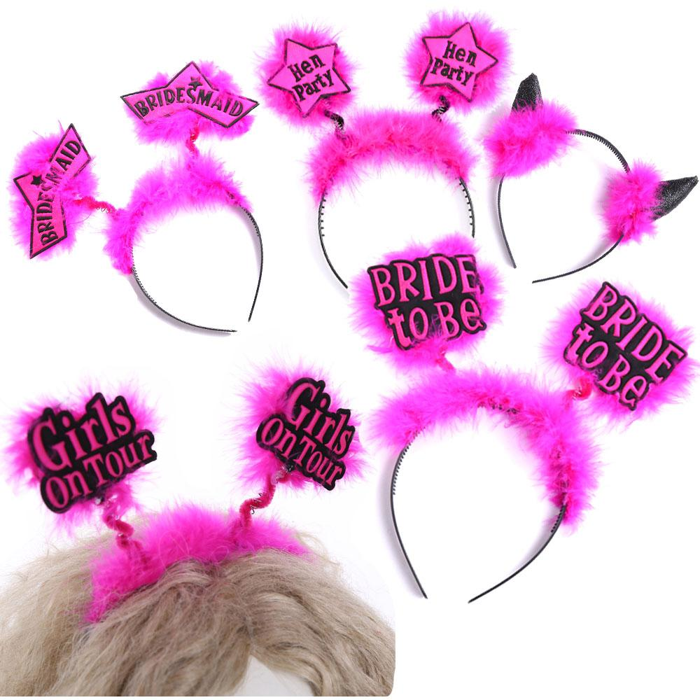Wholesale Bachelorette Party Headband 50% Off For Pink Fun Bride To ...