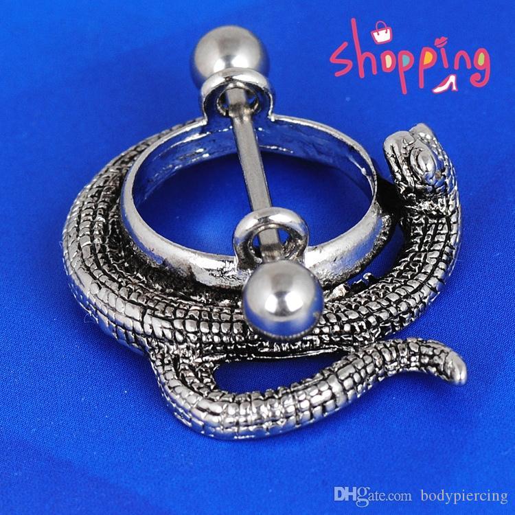 4 teile / los 2016 Neue Design Körperschmuck Schlange Stil Nipple Shield Nippel Ring Barbell Piercing schmuck