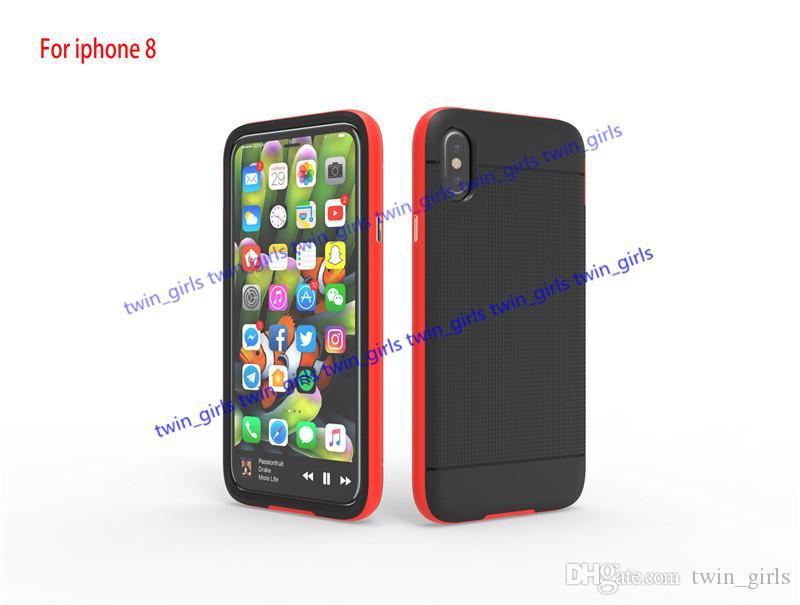 ل iphone8 i8 SGP حالة الهجين TPU PC حامي i8 الهجين درع حالة قطري غطاء صدمات