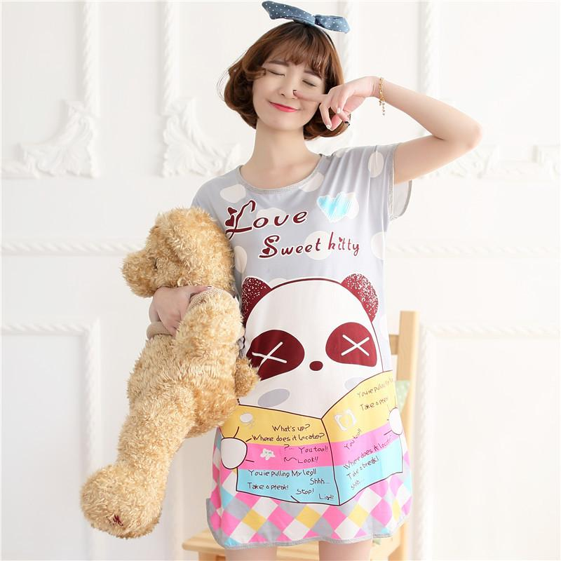2019 Summer Cartoon Nightgown For Girls Dress Pijama Soft Nightdress  Sleepwear Dresses Women Night Shirt Home Clothes From Crazy931 438f2fcdb