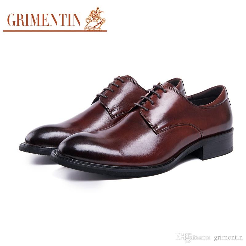 8eedf0738666 GRIMENTIN Italian Hot Sale Men Oxford Shoes High Quality Dress Mens Formal  Shoes Genuine Leather Fashion Newest Business Office Mens Shoes Slip On  Shoes ...