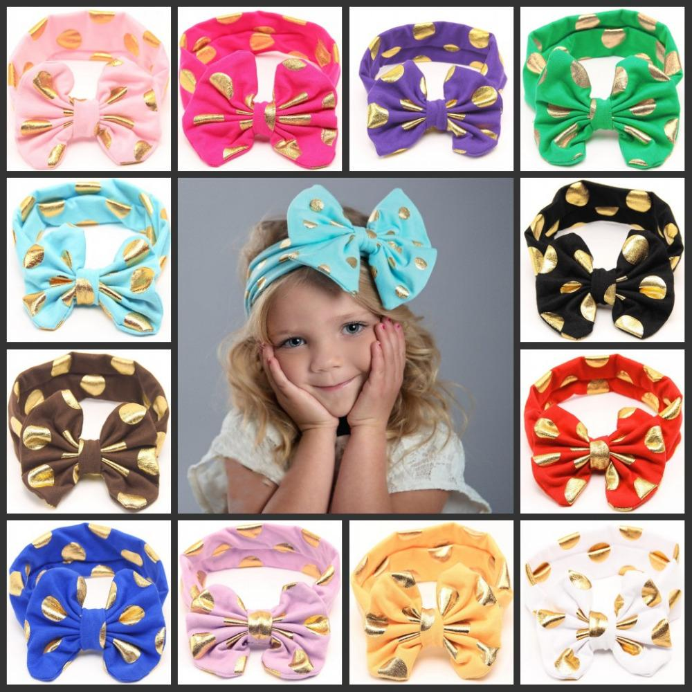 Children Baby Lovely Bow Headband Polka Dot Hairband Turban Headwear For  Newborn Infant Toddler Girls Hair Accessories Jeweled Hair Pins Jeweled Hair  ... 6ca54da613eb