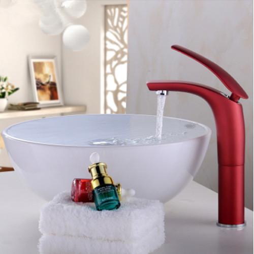 Creative color full copper hot and cold water tap the stage basin bathroom sinks Bathroom faucet