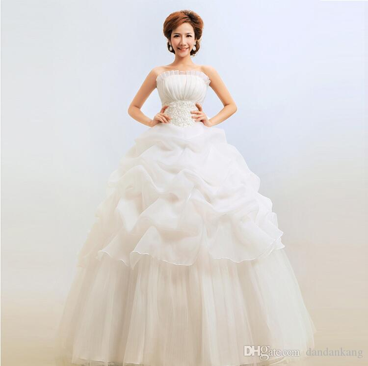 China Supplier Wedding Dress Ball Gown Backless Lace Wedding Dresses Bride  Sexy Boob Tube Top Wedding Dress Wedding Dresses Short Weddings Dresses  From ...