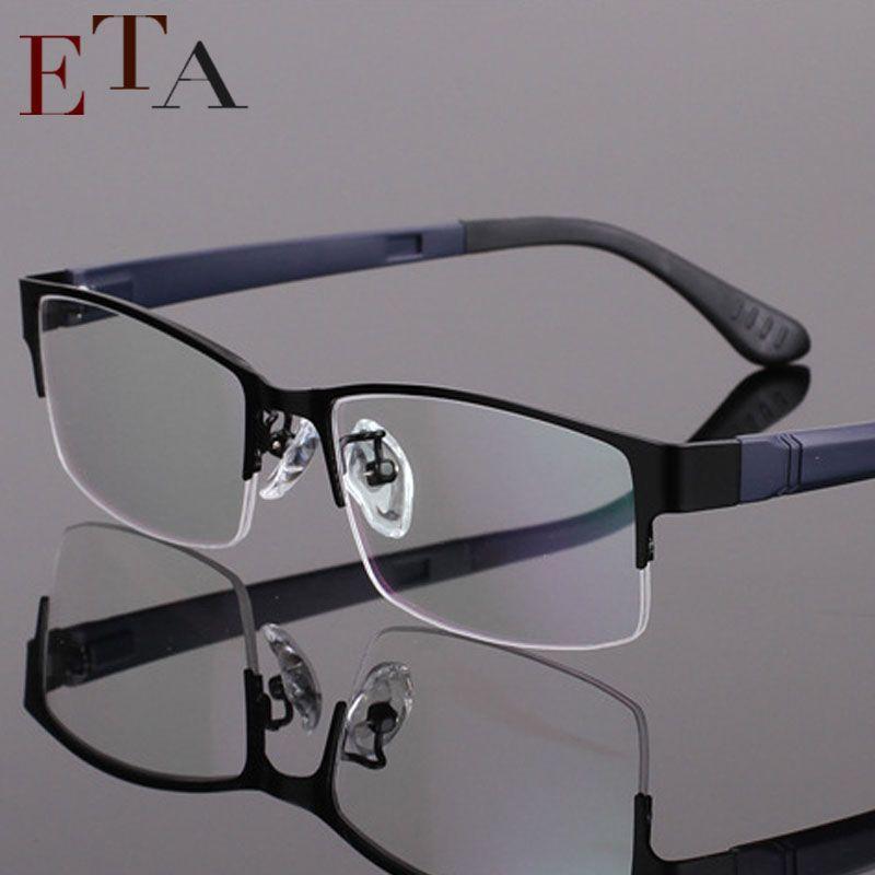 cc1e360c04f1 2019 Wholesale Men'S Lightweight Fashion Glasses Frame Myopia Frame Metal  Half Frame Glasses Frame Optical Prescription Eyeglasses From Hoganr, ...