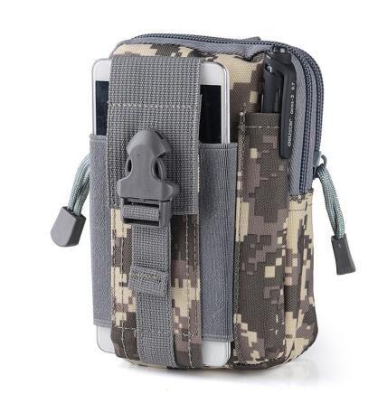Waterproof Belt Bag Men Nylon Mobile Phone Wallet Travel Sport Waist Pack Portable Outdoor  Tactical Belt Waist Bag
