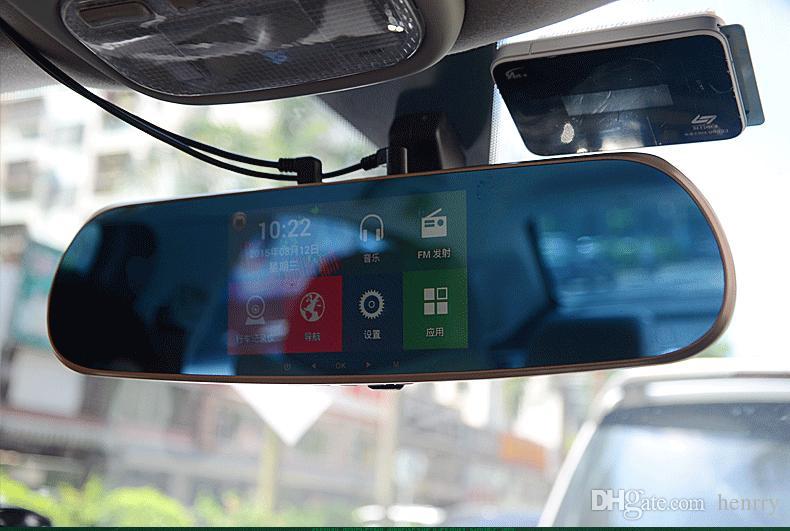 Car DVR Dash Cam All Winner Solution PZ918 Wifi 5 Inch HD Touch Screen Intelligent Dual Lens GPS ...