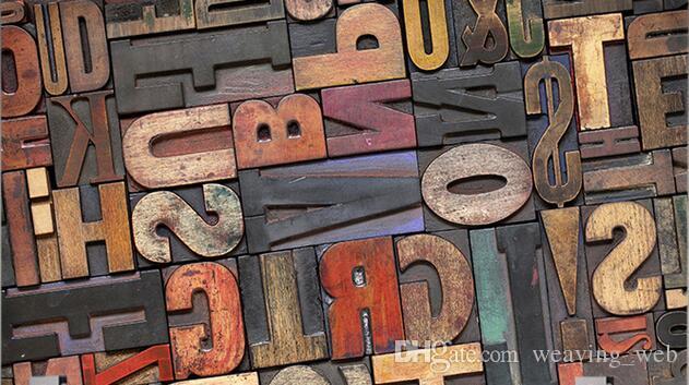 Vintage Brief Nummer Tapete 3D Riesen Wandmalerei Bars KTV Cafe Flur Restaurant Dekor Persönlichkeit Tapete