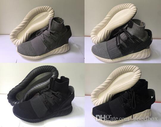 adidas Tubular Doom Sock Primeknit Grey and Black Shoes at