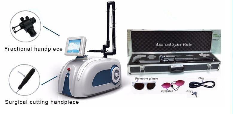 30W أنبوب معدني نتيجة جيدة عيادة استخدام ليزر CO2 كسور الجلد الظهور ندبة الليزر آلة الليزر