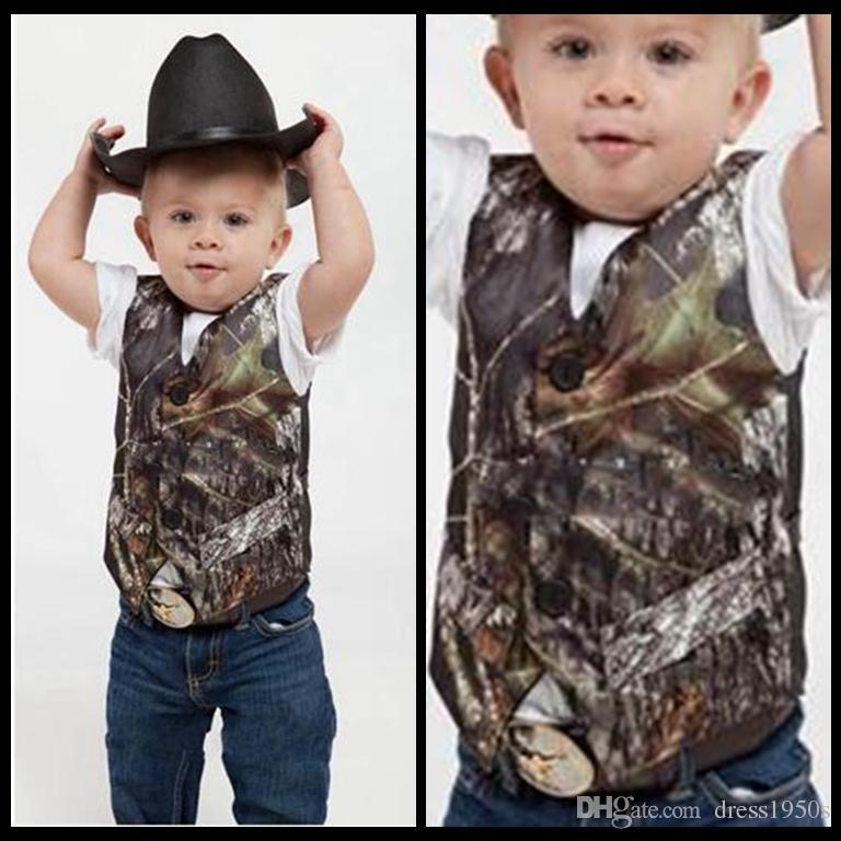 2018 Custom Camo Boy\'S Formal Wear Camouflage Real Tree Satin Vest ...