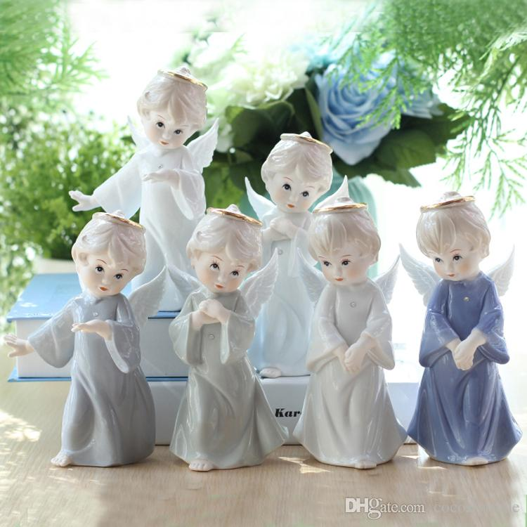 2019 Ceramic Figure Angel Decorations Home Furnishing Ornaments Lovely European Creative Wedding Birthday Gift Fast Shipping Via EUB From Cocoslytrade