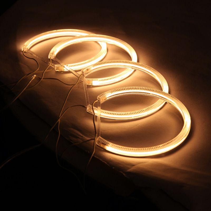 LEEWA Car Headlight CCFL Angel Eyes Light Halo Rings Kits For Lada VAZ 2106 Car-Styling #1272