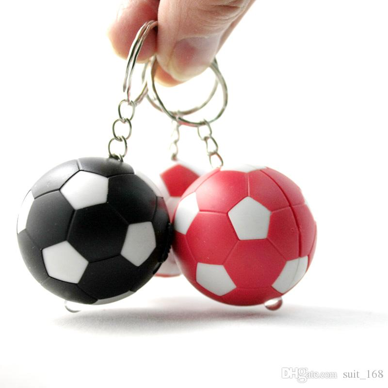 LED lights with Football Keychain / creative mobile phone chain keychain rebate even number banknote
