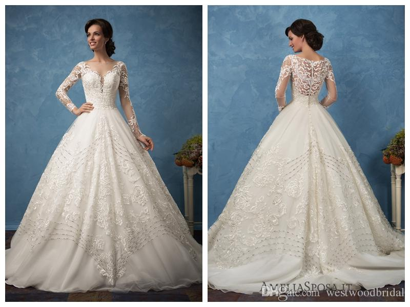 2018 Wedding Dress Amelia Sposa Arianna Iovry Lace Ball Gown Wedding ...