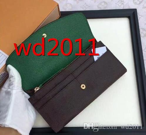 original box luxury real leather multicolor coin purse date code short wallet Card holder women man classic zipper pocket